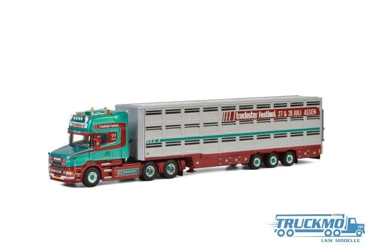 WSI Truckstar Scania 4 Serie Torpedo Topline Live Stock Trailer 01-2881
