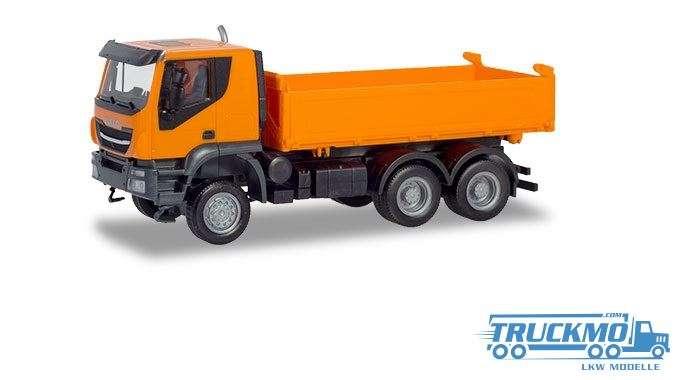 Herpa Iveco Trakker 6x6 Baukipper-LKW orange 309998