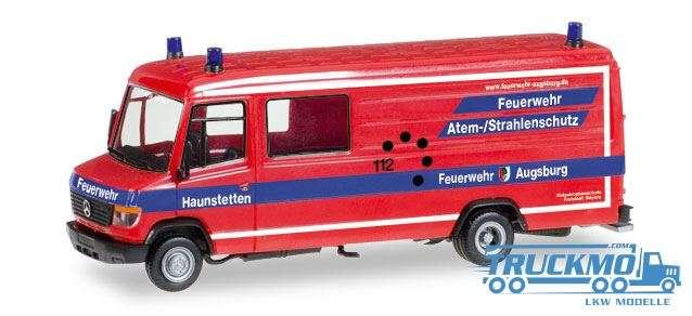 Herpa Feuerwehr Haunstetten Mercedes-Benz Vario Langkasten Gerätewagen Atemschutz 092548