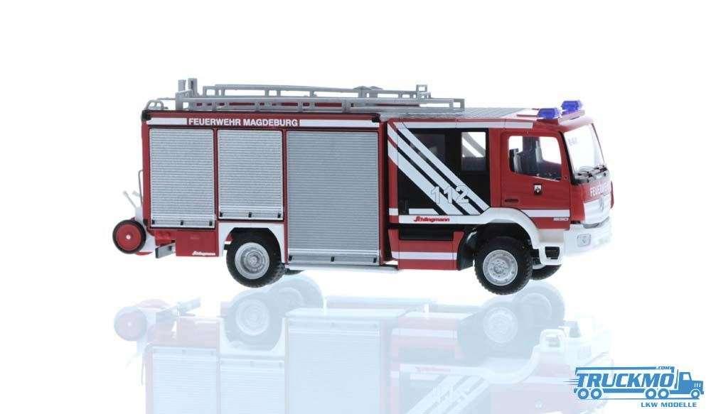 Rietze 72919 Schlingmann Varus HLF Feuerwehr Magdeburg 1:87