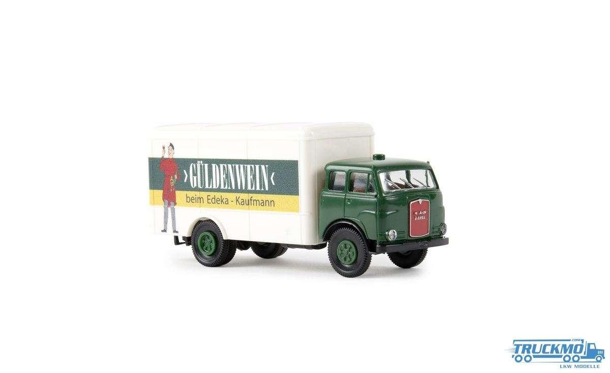 Brekina Modelle Güldenwein MAN 10.212 F Koffer 78369