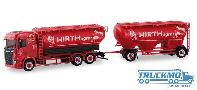 Herpa Wirth Agrar Scania CR ND Eutersilo-Hängerzug 310468