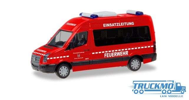 Herpa Einsatzleitung Feuerwehr Eschwege VW Crafter Bus HD 094597