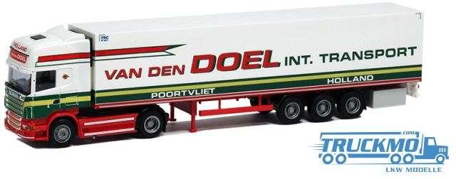"AWM Van den Doel LKW Scania ""09"" Topl./ Aerop. Kühlkoffer-Sattelzug Modell"