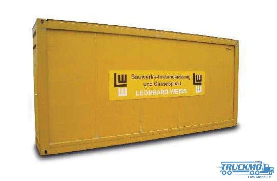 Herpa Leonhard Weiss Bauwerks-Instandsetzung Gussasphalt 20 ft. Baucontainer 938303