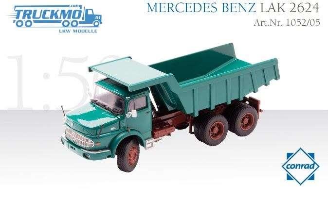 Conrad Mercedes Benz LAK 2624 bonnet truck with quarry rock body 1052/05