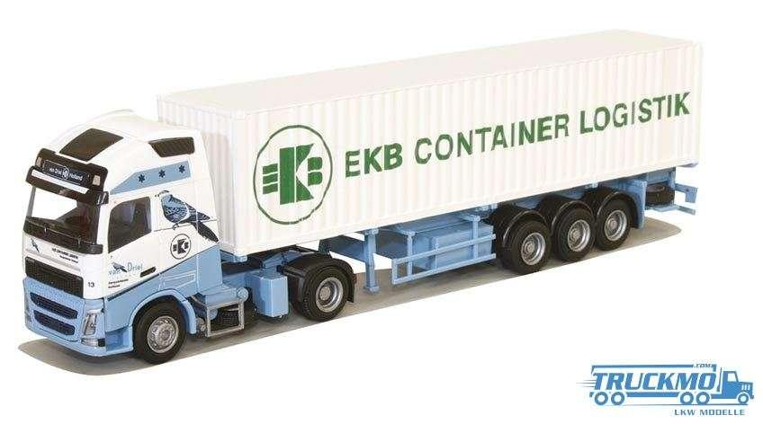 AWM Van Driel / EKB Volvo FH12 Globetrotter XL 40ft Containerauflieger 75256