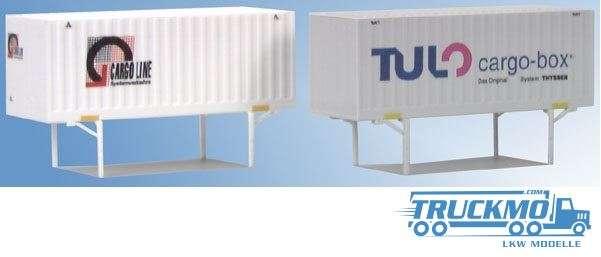 AWM Cargo Line / Tulo Cargoboxen 4 unterschiedliche 90603