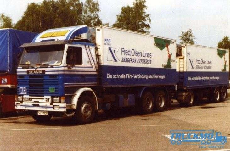 Tekno Langtransport Scania 142 Motorwagen Anhänger 74996