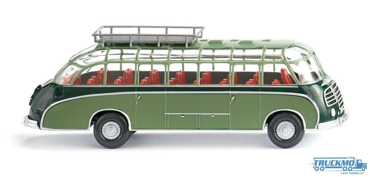Wiking Setra S8 Reisebus dunkelgrün resedagrün 073002