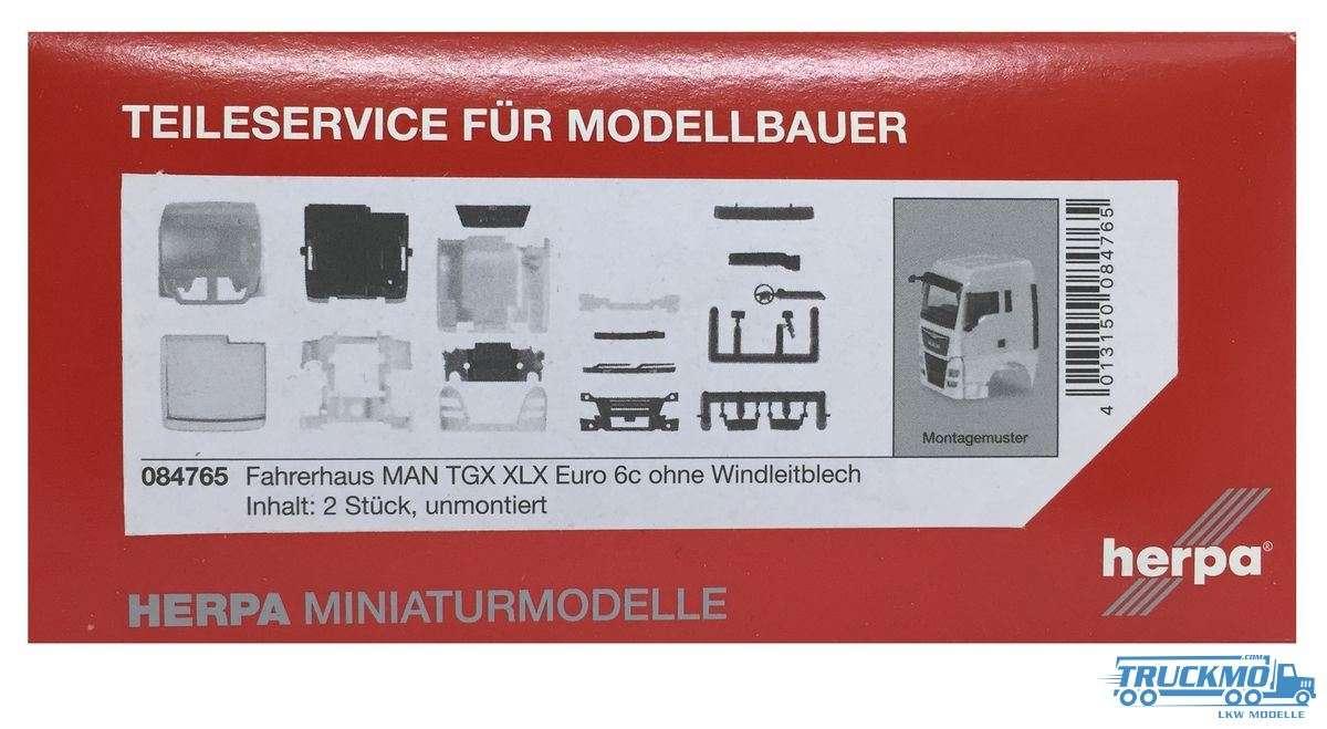Herpa Fahrerhaus MAN TGX XLX Euro 6c ohne Windleitblech Inhalt: 2 Stück 084765