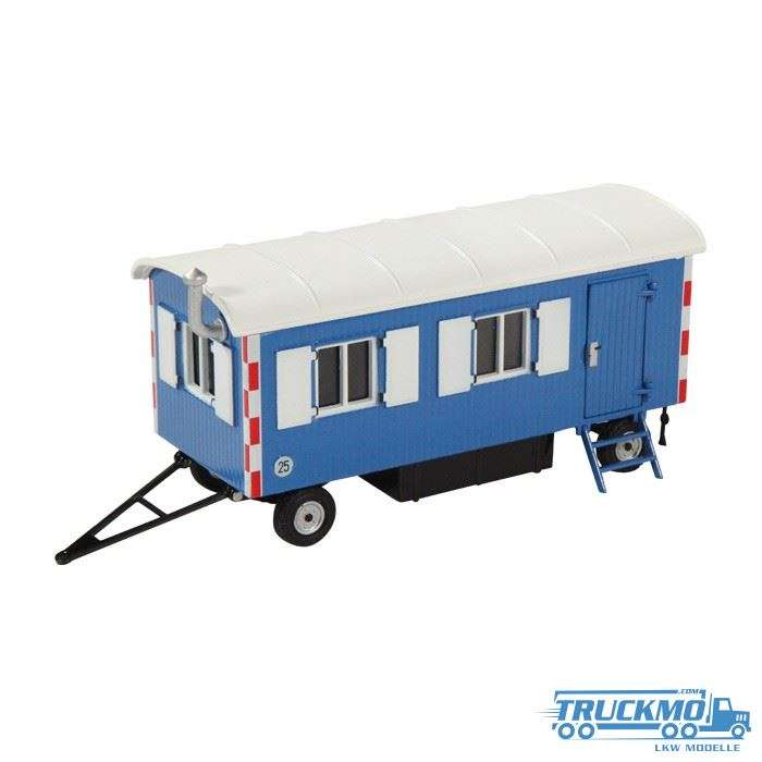 NZG Construction trailer blue RAL5015