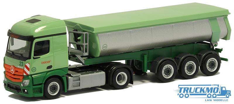 Herpa Hz camiones de carga profundamente-tandemanhänger Geiger 940702