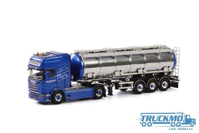 WSI Gentenaar Transport LKW Modell Scania R Streamline Topline Tankauflieger (3 Achs) 01-1782A