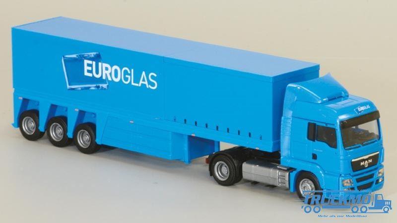 AWM Euroglas MAN TGS LX Aerop. Innenlader Sattelzug LKW Modell