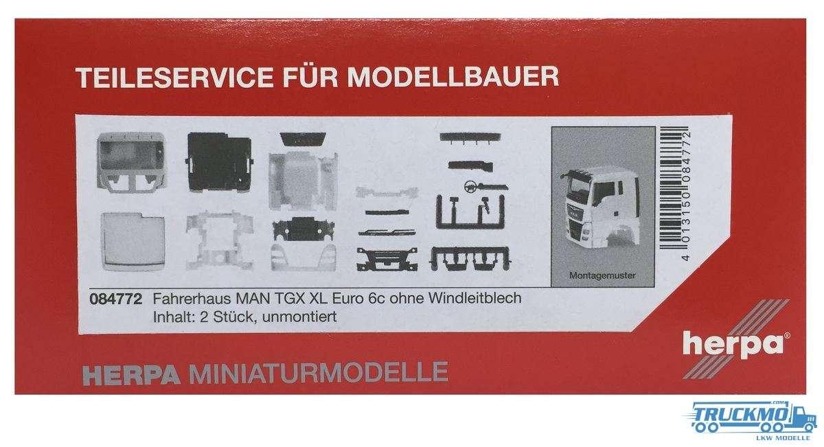 Herpa Fahrerhaus MAN TGX XL Euro 6c ohne Windleitblech Inhalt: 2 Stück 084772