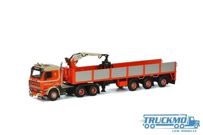 WSI Huskens LKW Modell Scania 3 Steinauflieger (3 Achs) 06-1117
