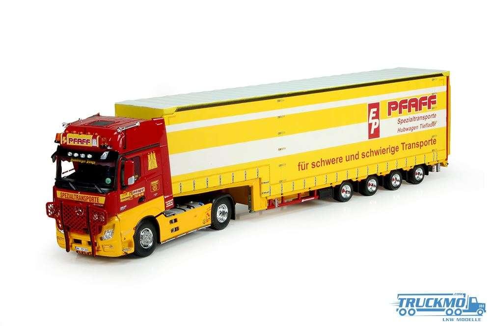 Tekno Pfaff Mercedes Gigaspace mit 4 Achse Meusburger Auflieger 73455
