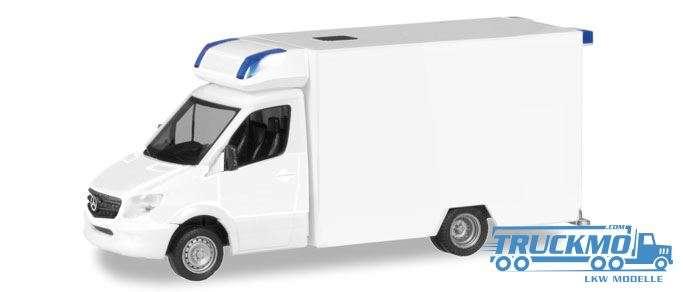 Herpa MiniKit: Mercedes-Benz Sprinter Fahrtec RTW, weiß 013390