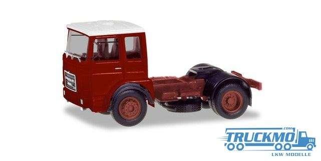 Herpa Roman Diesel 4×2 Zugmaschine braunrot, Dach weiß 310550