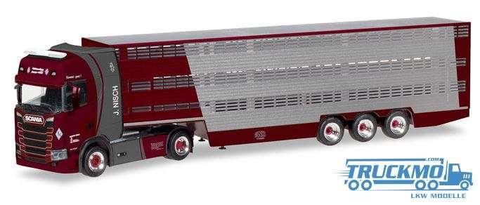 Herpa Nisch Scania CS Hochdach Viehtransporter 309264