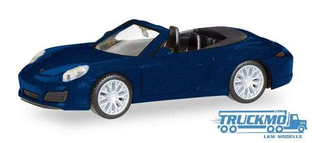 Herpa Porsche 911 Carrera 4S Cabrio nachtblaumetallic 038898