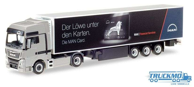 Herpa MAN Card MAN TGX XXL Euro 6c Kofferauflieger 401620