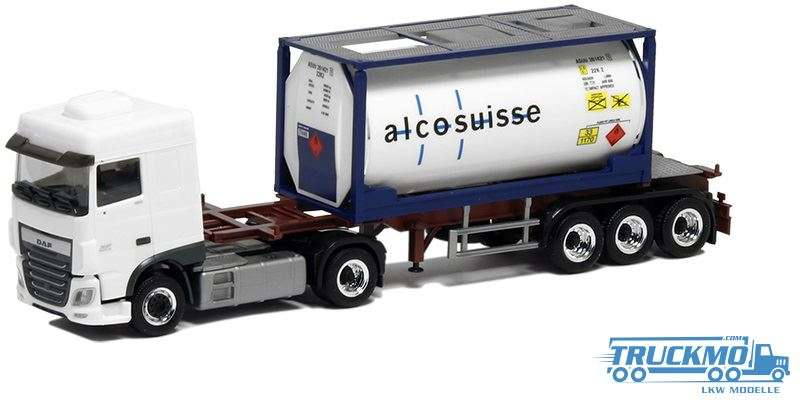 Herpa Hofer / Alco Suisse DAF XF Euro 6 Space Cab 20ft Tankcontainer 5032