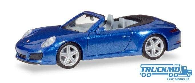 Herpa Porsche 911 Carrera 2 Cabrio, saphirblau metallic 038843