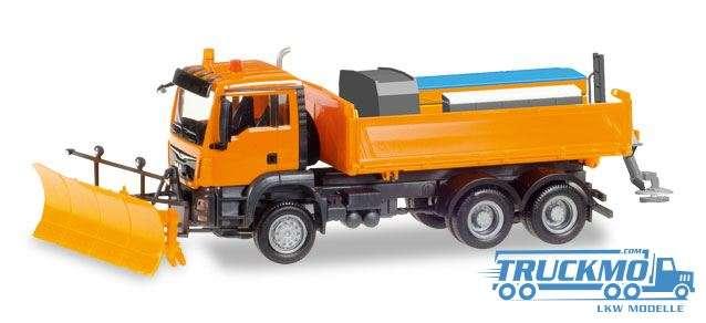 Herpa LKW Modell MAN TGS M 6x6 Winterdienstfahrzeug kommunal 307772