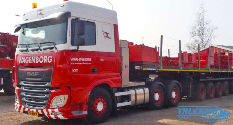 IMC Wagenborg DAF XF Space Cab Euro 6 Nooteboom Ballasttrailer 10ft Container 33-0078
