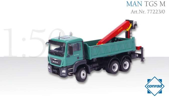 Conrad MAN TGS M 6x6 Allradkipper mit Epsilonkran 77223/0