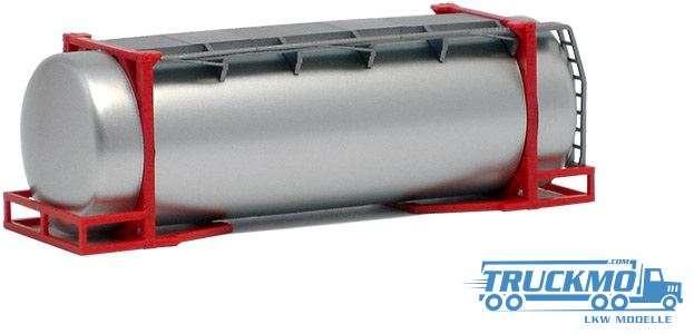 AWM 26ft. Tankcontainer silber lackiert Rahmen rot 490084