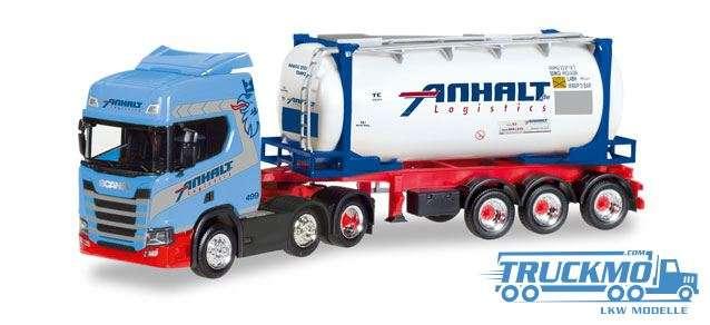 Herpa Spedition Anhalt Scania CR20 HD Swapcontainer-Sattelzug 308199