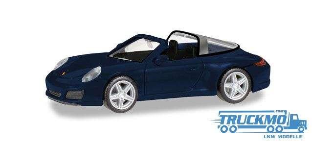 Herpa Porsche 911 Targa 4 nachtblau metallic 038867