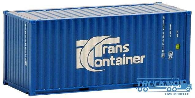 AWM TransContainer, 20ft. Container mittelblau 491426
