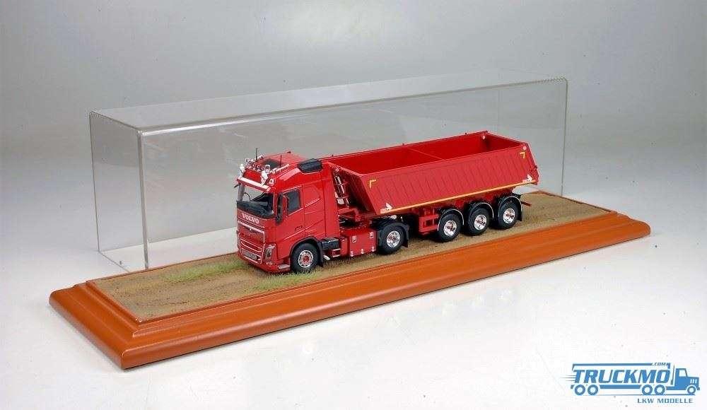 Tekno Vitrine Wüste / Sand (Traktor+Anhänger) 450x130x130 mm 73798