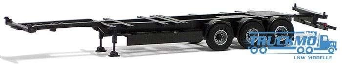 AWM Container Chassis 40ft./45ft Highcube Trailer 3achs (schwarz) -AWM- (mit Zubehör zum Umrüsten 40