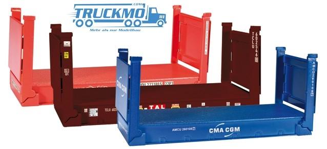 Herpa Zubehör 20 ft. Flatcontainer, 3 Stück