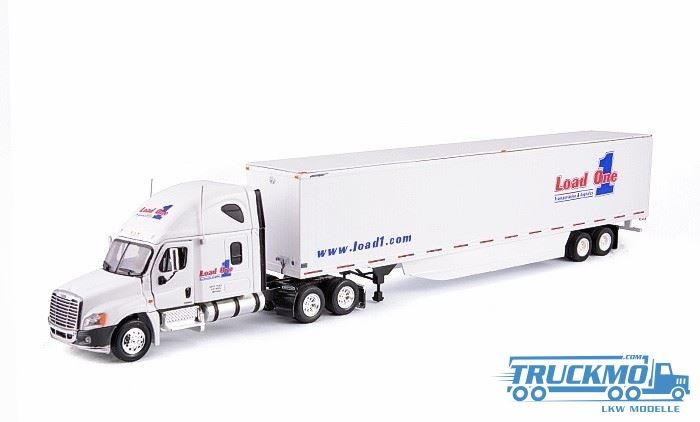Tonkin Freightliner Cascadia Sleeper Cab Raise Roof 6x4 + 53 Van Trailer Load 1